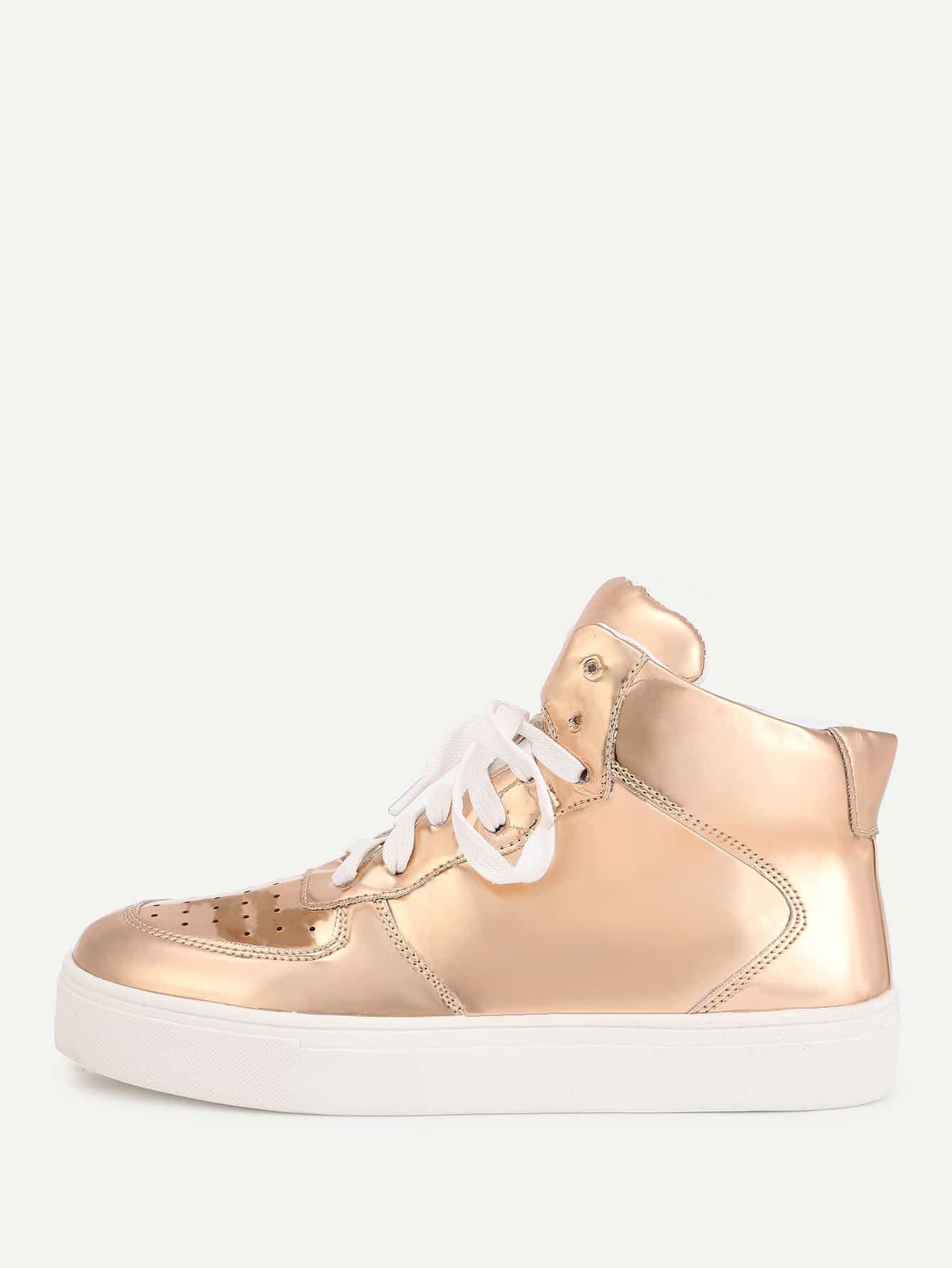 Lace Up High Top PU Sneakers