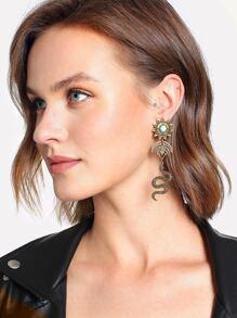 Snake Design Retro Drop Earrings