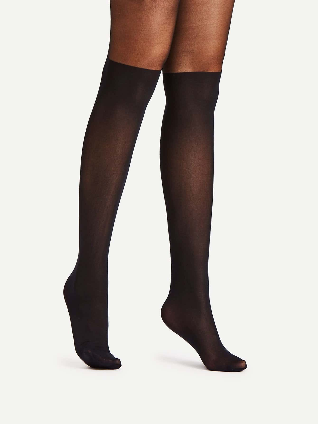 Image of 20D Two Tone Mesh Tights