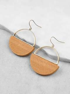 Cut Out Gold Hardware Earrings NATURAL