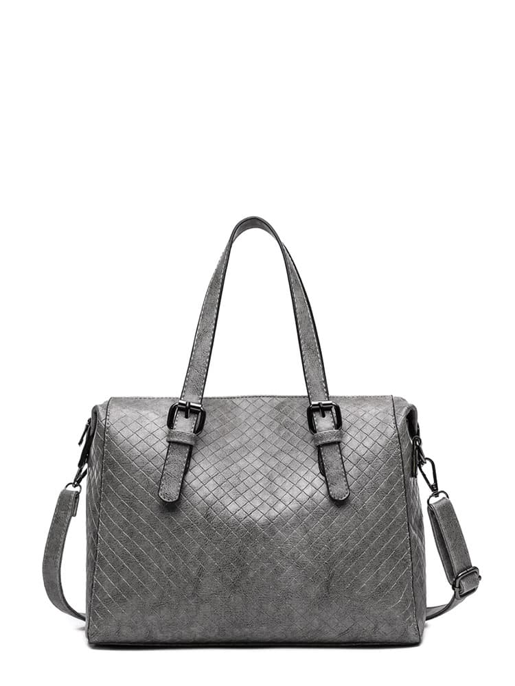 Quilted Detail PU Shoulder Bag With Convertible Strap feron jd58 18831