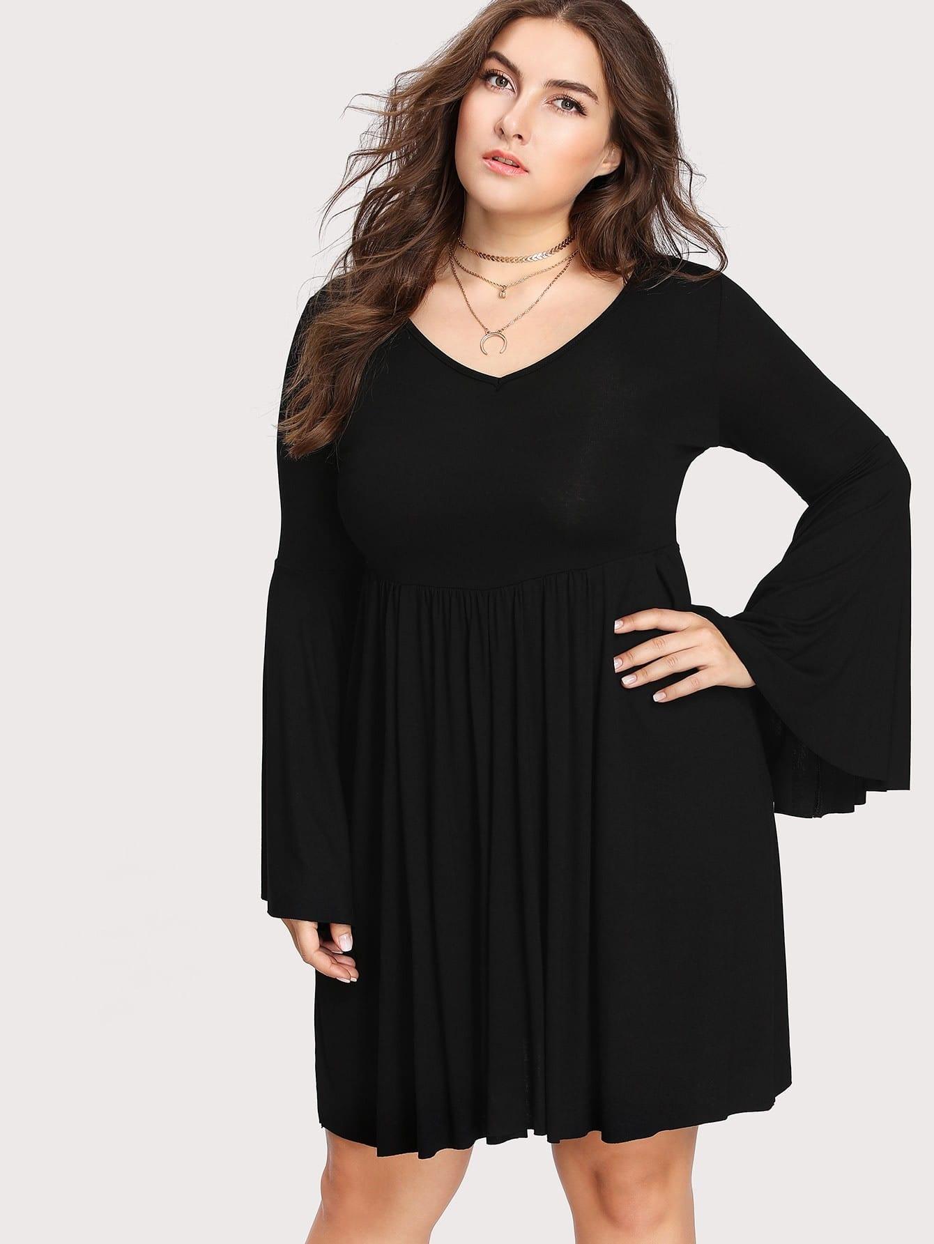 Купить Модное платье с оборкой и бантом, Franziska, SheIn