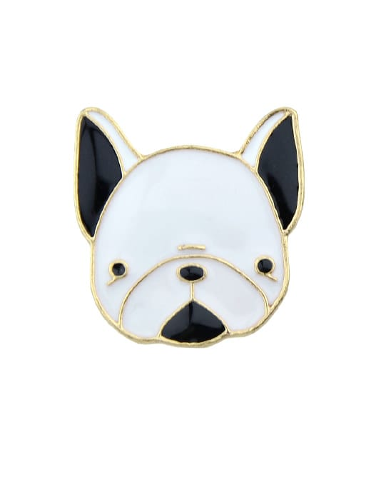 Enamel Small Cute Dog Pattern Brooches Bijoux Accessories For Women enamel sector pattern brooches with red tassel