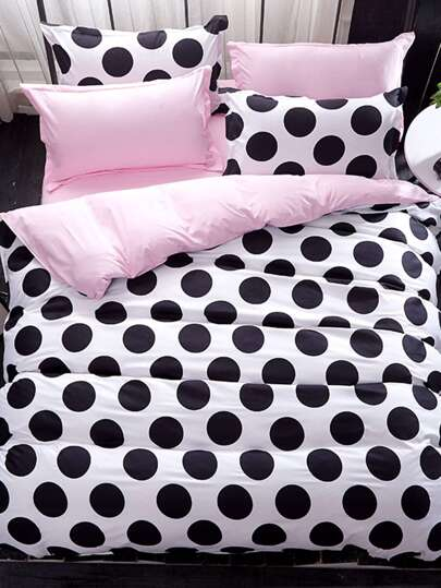 2.0m 4Pcs Polka Dot Print Bedding Set