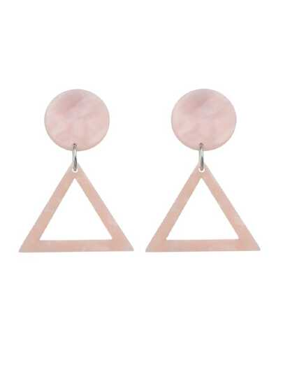 Acrylic Round Triangle Geometric Drop Earrings