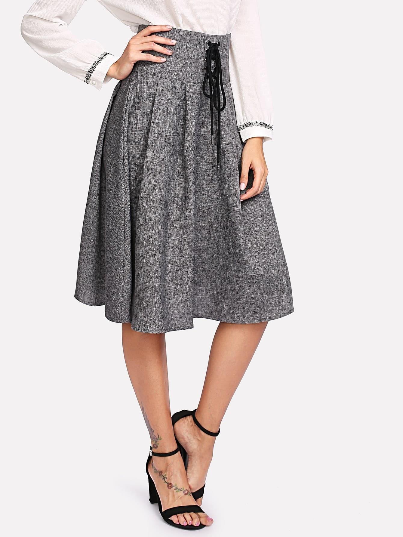 Купить Модная юбка со шнуровкой, Giulia, SheIn