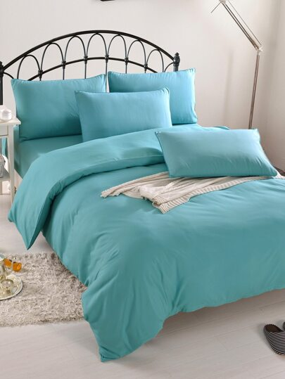 1.0m 3Pcs Simple Solid Duvet Cover Set