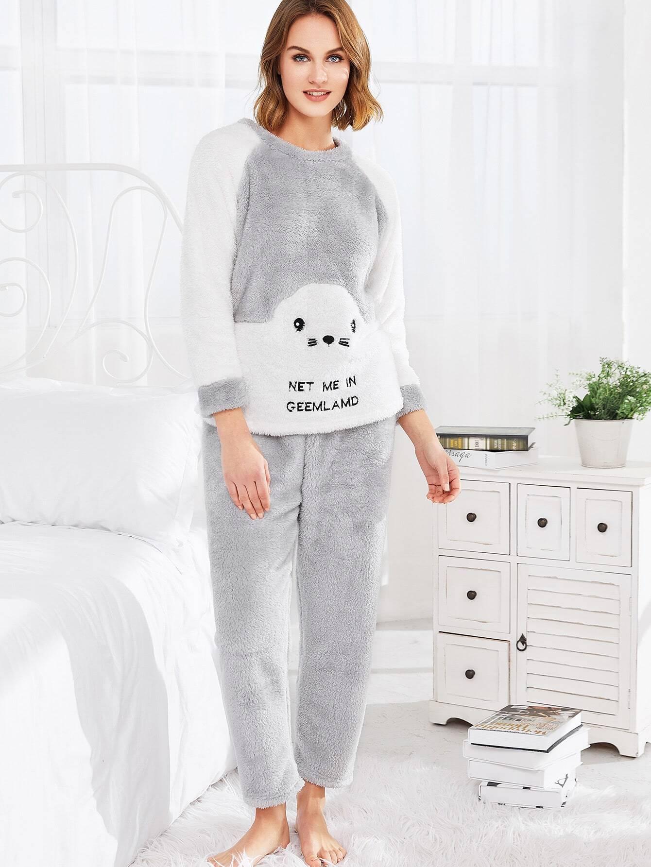 Модная пушистая пижама