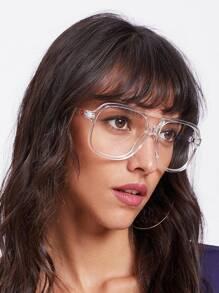 Gafas con marco transparente con doble puente