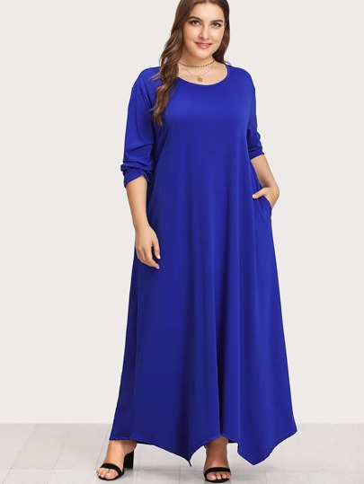 Long Sleeve Solid Maxi Dress