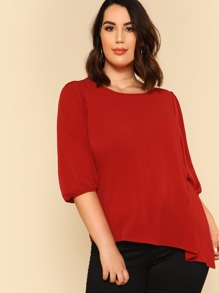 Asymmetric Belted Top