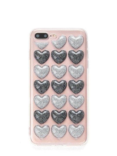 Two Tone Heart Pattern iPhone Case