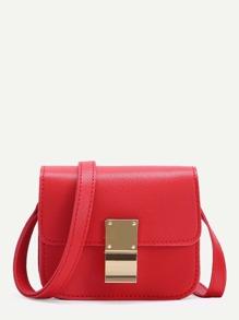 Mini Flap PU Crossbody Bag