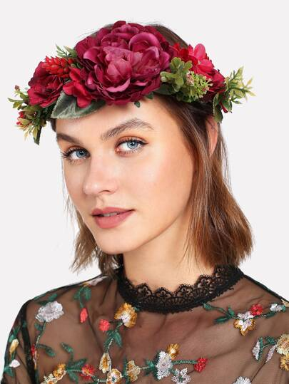 Flower Design Headband