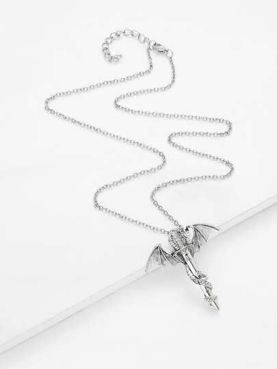 Arrow & Wing Design Chain Necklace