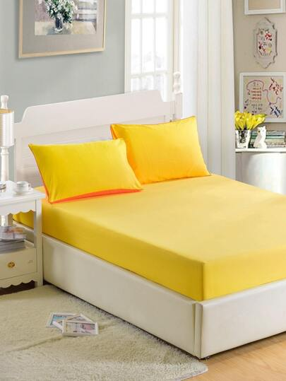 Simple Solid Full Covered Bed Cover Set