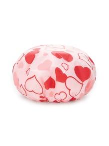 Heart Print Shower Cap