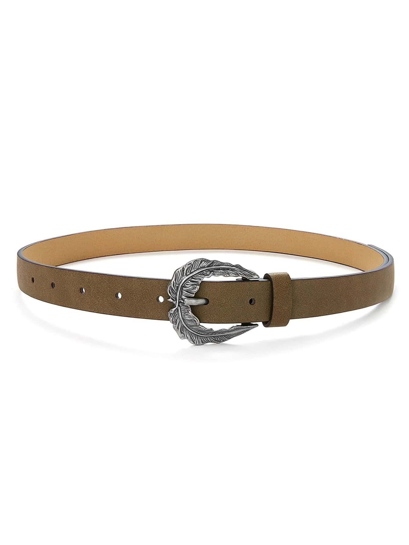 Leaf Design Buckle Belt