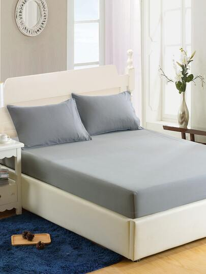 Simple Solid Colour Fitted Sheet