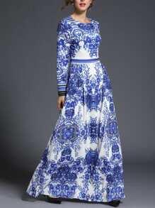 Porcelain Print Longline Dress