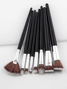 Ensemble de brosse de maquillage professionnelle avec poignée à deux tons