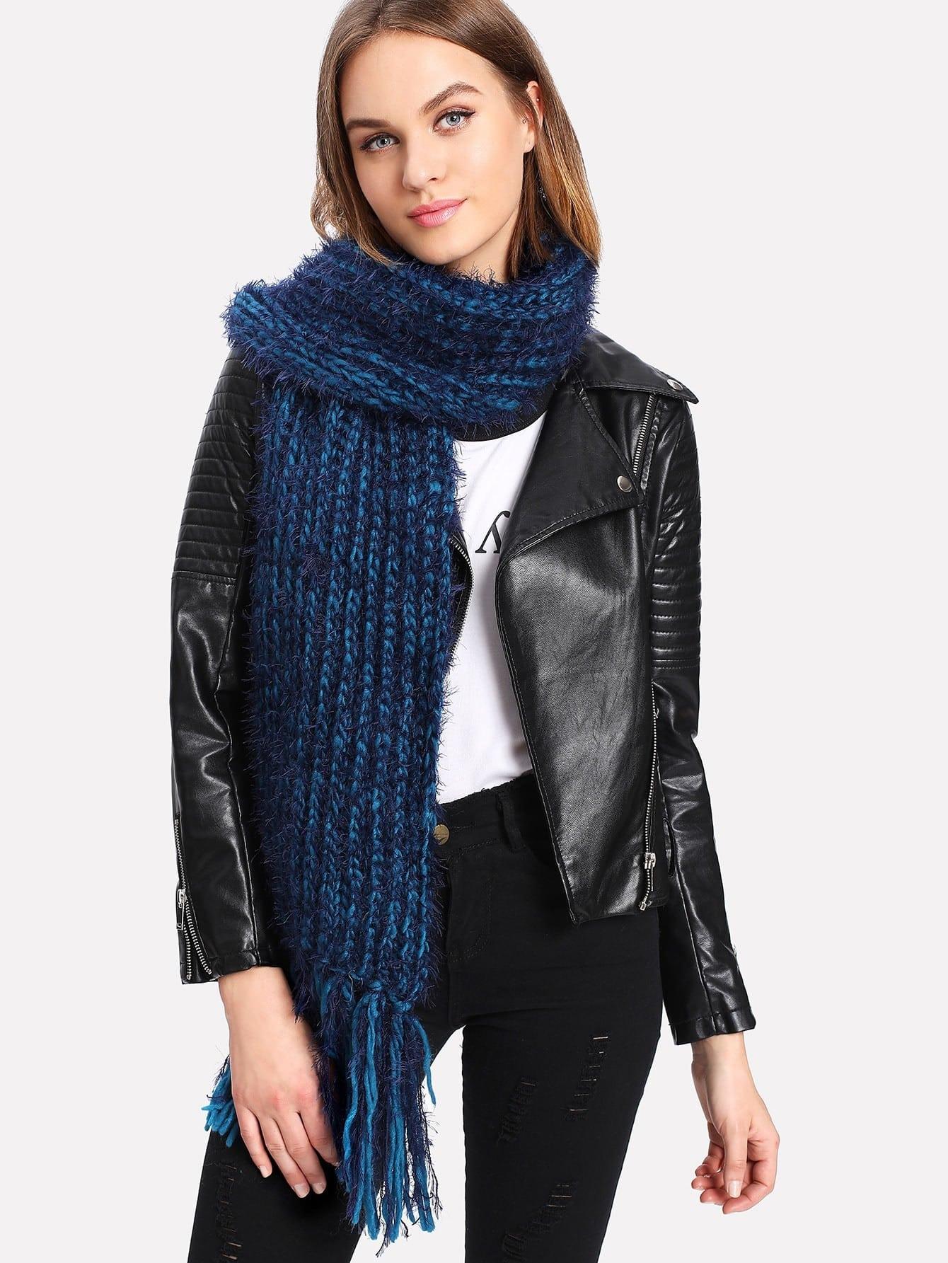 Fringe Trim Knit Scarf шарф fundamentals knit scarf