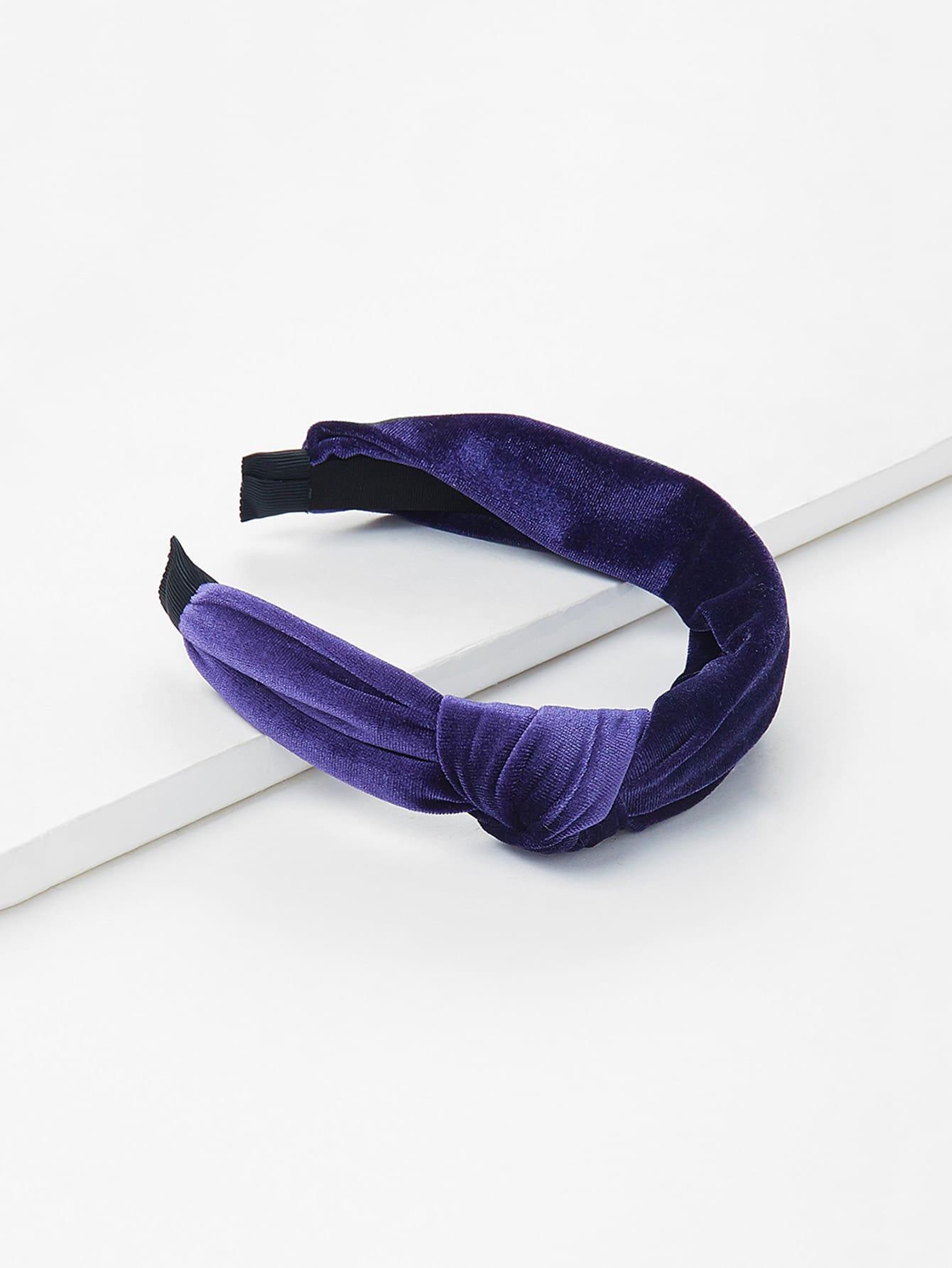 Knot Design Velvet Headband