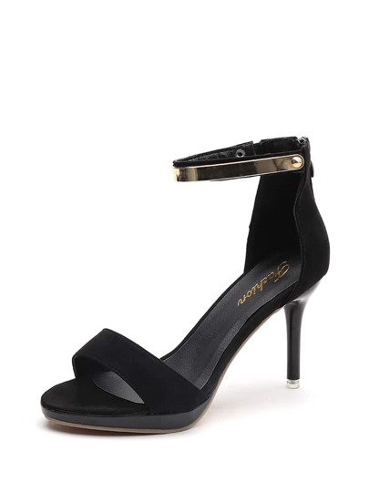 Metal Detail Two Part Heeled Sandals