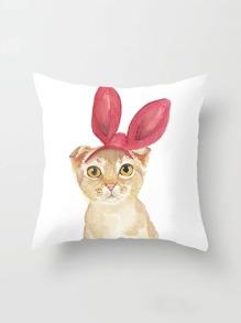 Taie d\'oreiller imprimé chat