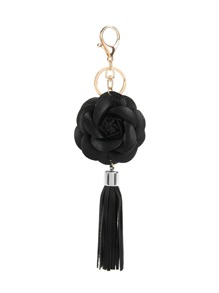 Rose & Tassel Design Keychain