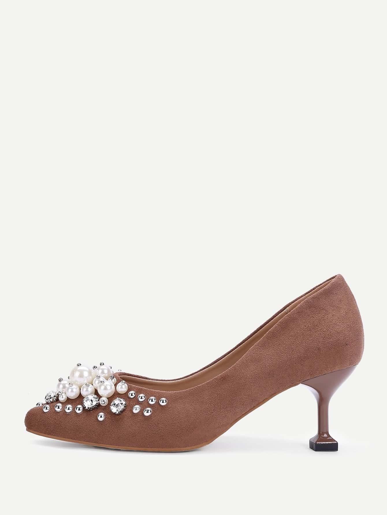 Chaussures talons aiguilles en su d avec perle fausse for Acheter maison suede
