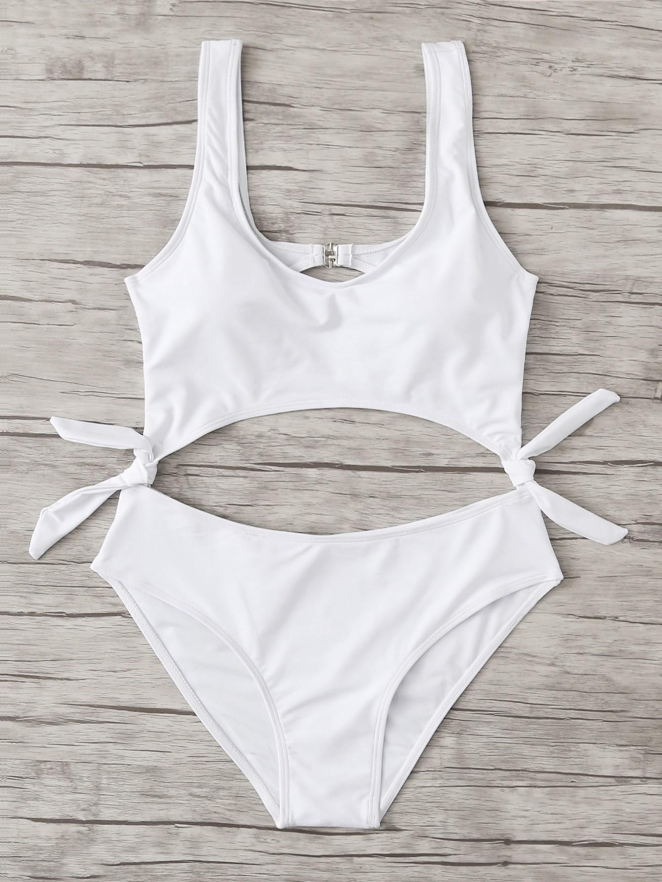 Knot Cut Out Swimsuit wrap knot swimsuit