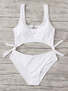 Knot Cut Out Swimsuit