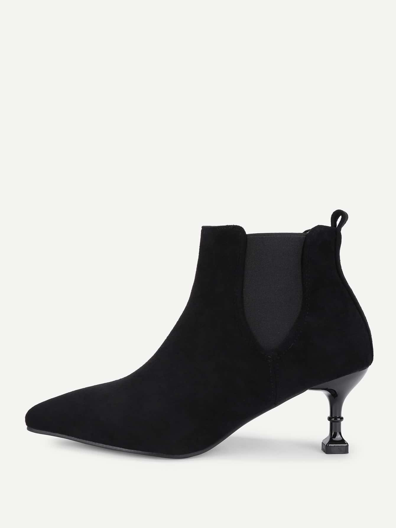 Image of Almond Toe Suede Ankle Boots