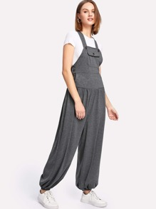 Pocket Front Racer Back Jumpsuit