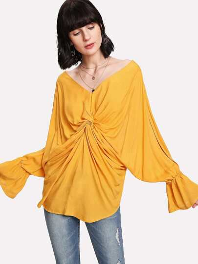 Twist Front Dolman Sleeve Top