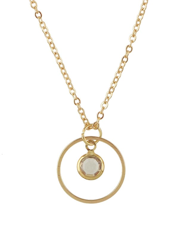 Gold Chain With Beads Circle Pendant Necklace Collier Femme old antique bronze doctor who theme quartz pendant pocket watch with chain necklace free shipping