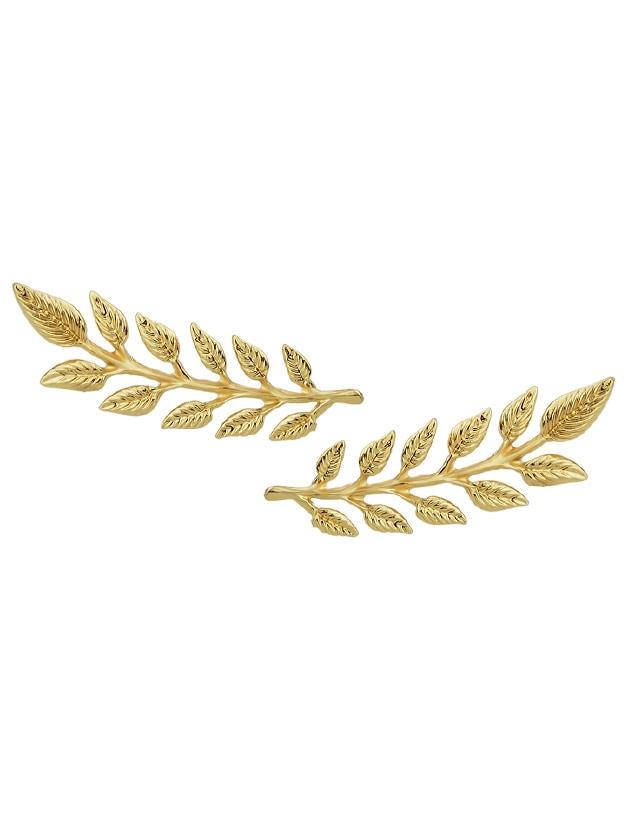 2 Шт./Пара Мода Золотой Цвет Листьев Броши PIN Зажимы Для Галстука