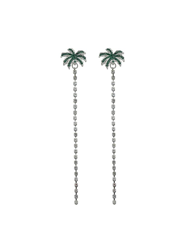 Coconut Tree Leaf Drop Earrings Long Chain Party Dangle Earrings new high quality meat grinder parts diameter 48 mm blade mincer knife fits moulinex free shipping