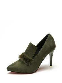 Faux Fur Stiletto Heels