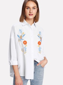 Symmetric Embroidered Blouse