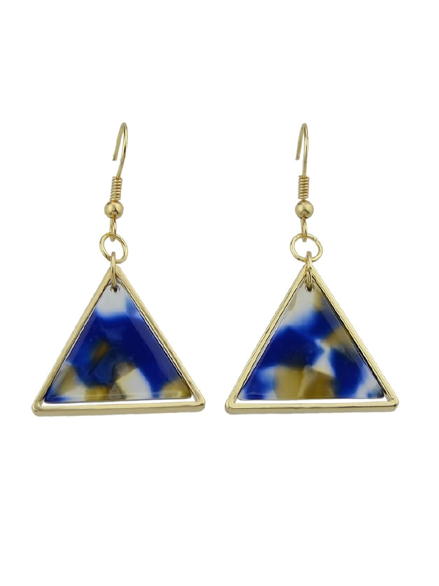 Blue Acrylic Triangle Drop Earrings Brincos For Women