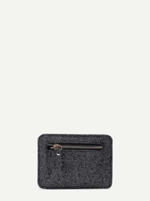 Zipper Front PU Wallet