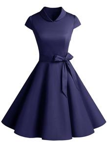 Knot Detail Circle Dress