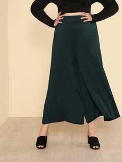 Jersey Knit Wide Leg Flare Pants