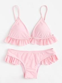 Ruffle Hem Bikini Set