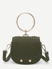 PU Saddle Bag With Ring Handle
