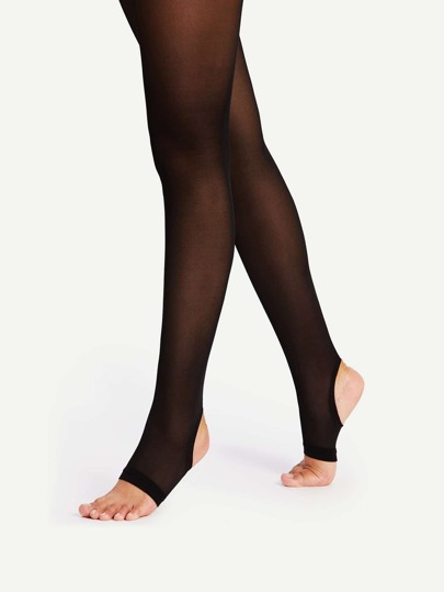 Plain Stirrup Tights