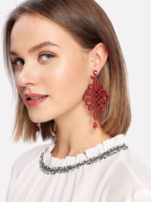 Chinese Knot Design Drop Earrings