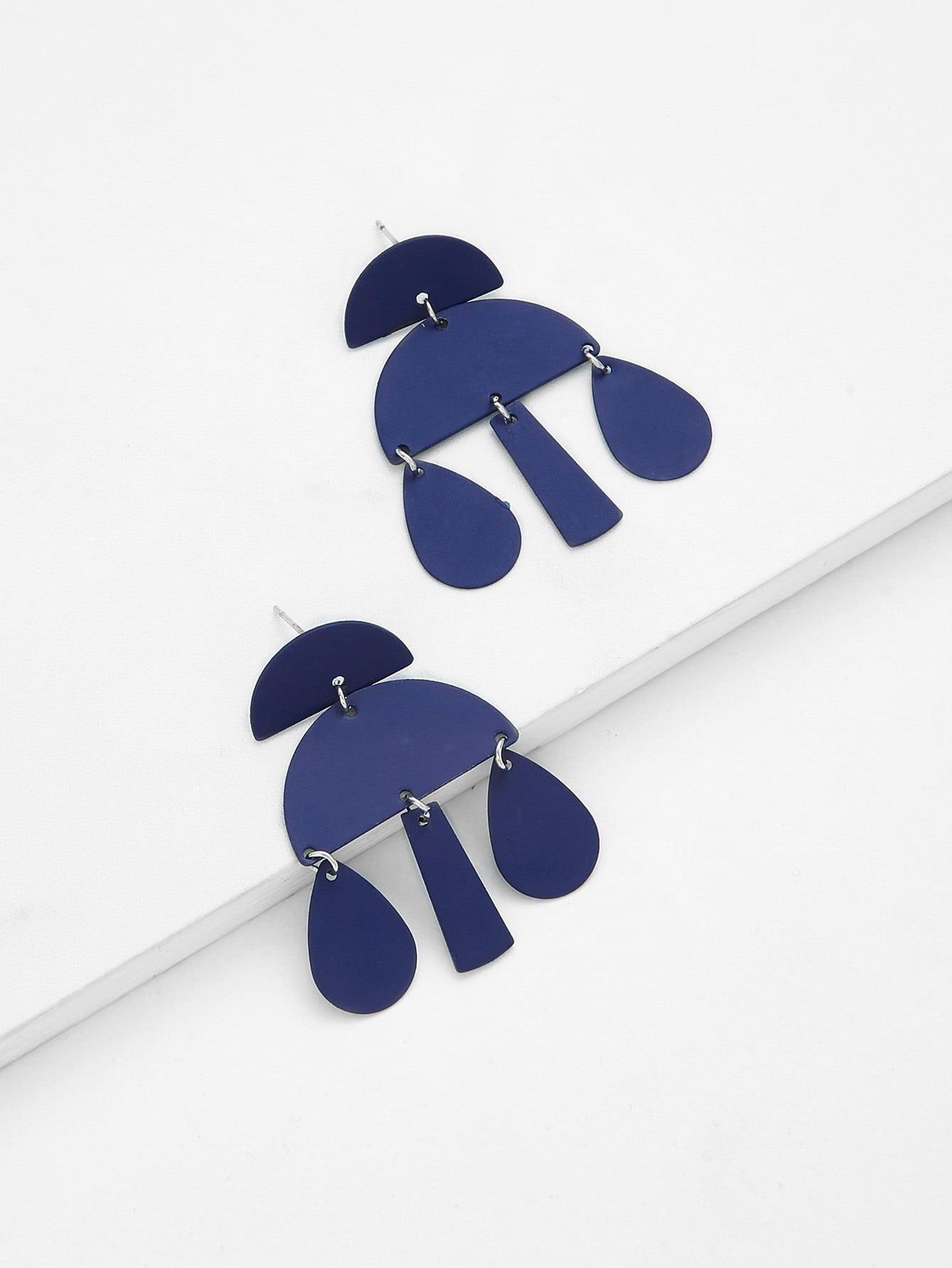 Geometric Drop Earrings enamel geometric drop earrings